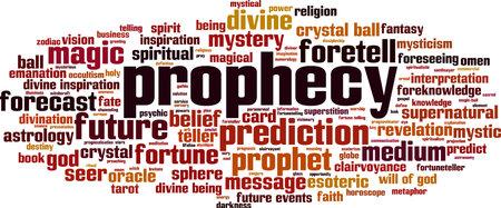 Prophecy word cloud concept. Vector illustration