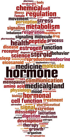 Hormone word cloud concept. Collage made of words about hormone. Vector illustration