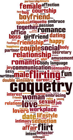 Coquetry word cloud concept. Collage made of words about Coquetry. Vector illustration