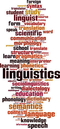 Linguistics word cloud concept. Collage made of words about linguistics. Vector illustration