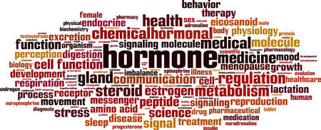 Hormone word cloud concept. Collage made of words about hormone. Vector illustration Vektorové ilustrace