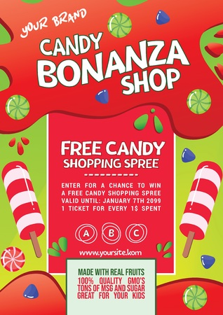 Candy Shopping Spree Promo Flyer