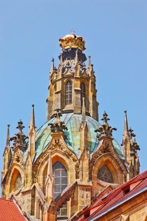 La Abadía de Kladruby es un monasterio benedictino primera gran cita 1115 Su gran iglesia de finales del barroco de la Asunción de la Virgen María, Giovanni Battista Santini, arquitecto atestigua el poder secular y la riqueza de la abadía, que se disolvió und Foto de archivo - 14073920