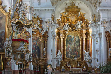 interior of ST. Georg church in Ammersee Editorial
