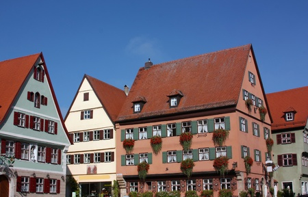 almost all: This old Franconian town is one of the best-preserved medieval urban complexes in Germany  The walls surrounding the city include four towers Wornitzer, Nordlinger, Seringer and Rothenburger Tor which are all almost intact