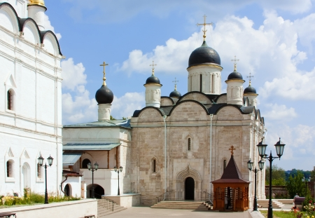 Vvedensky Cathedral  Vladychny monastery monastery in Serpukhov was established in the year 1360 Stock Photo - 14414860
