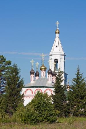 The assumption Church in village the Old  Kuzmenki near Serpukhov (1694) Stock Photo