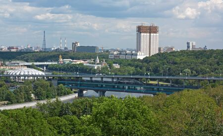 View of the building of the Academy of Sciences of Russia from Sparrow hills photo