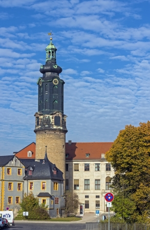 The Town Castle is located in the center of Weimar