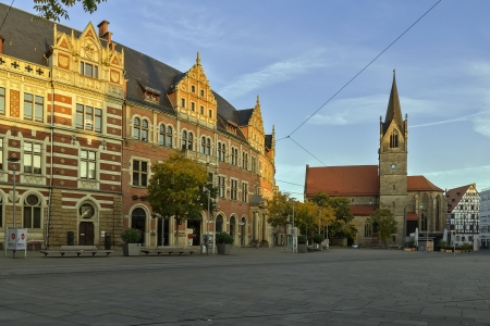Anger square is one of the greatest in Erfurt Stock Photo