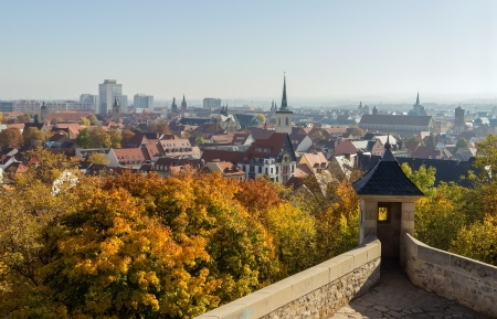Panorama of Erfurt from a Petersberg citadel