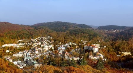 karlovy vary: Panorama of Karlovy Vary from a hill