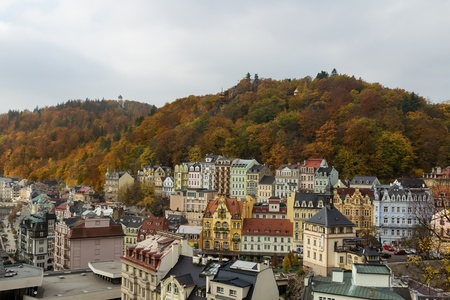 Sight at the historical centre of Karlovy Vary Stock Photo - 16751319