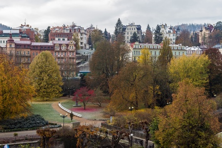 karlovy: Dvorak Park in city center of Karlovy Vary