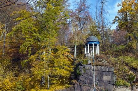 karlovy: Arbour in park about parkhotel Richmond in Karlovy Vary