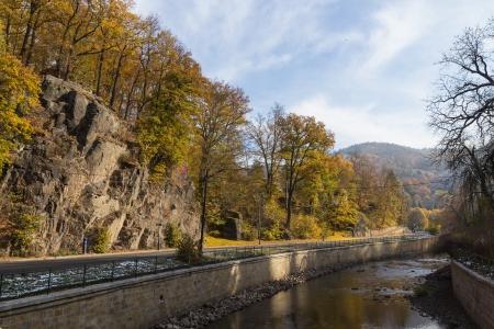 karlovy: river Tepla on suburb Karlovy Vary Stock Photo