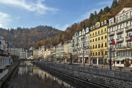vary: embankment of Tepla river in Karlovy Vary
