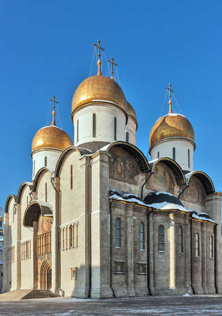 The Cathedral of the Dormition is a Russian Orthodox church. It is located on the north side of Cathedral Square of the Moscow Kremlin photo