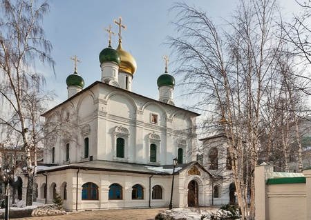 of our lady: Sretensky Monastery is a monastery in Moscow, founded by Grand Prince Vasili I in 1397  Cathedral of the Meeting of the Icon of Our Lady of Vladimir Stock Photo