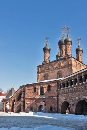 ecclesiastical: Dormition Cathedral. Krutitsy Metochion is an operating ecclesiastical estate of Russian Orthodox Church