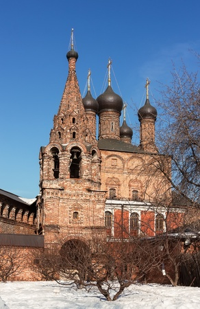 ecclesiastical: Dormition Cathedral and bell tower. Krutitsy Metochion is an operating ecclesiastical estate of Russian Orthodox Church