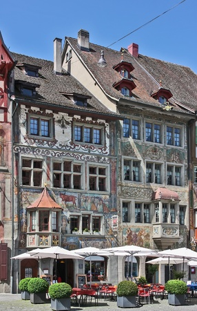 rhein: With many medieval halftimbered buildings and 16th century houses whose facades are painted with frescoes, Stein am Rhein is one of the most beautiful sights in Switzerland.