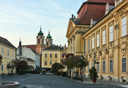 Bishop Palace in the center of the Szekesfehervar city, Hungary