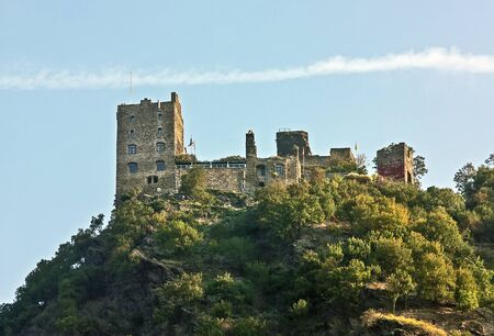 Castle ruins on the river Rhine. The Rhine valley is one of the most beautiful parts of Germany.