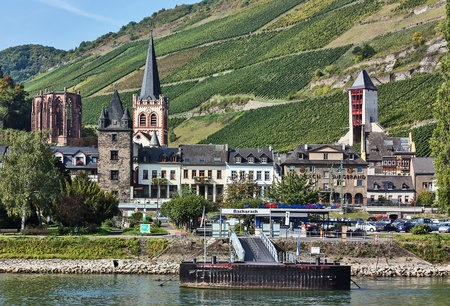 hause: Bacharach is a historical town on the Middle Rhine