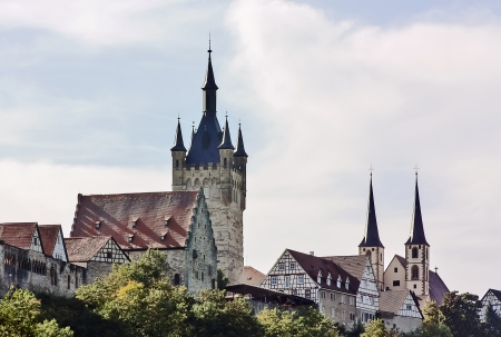 Bad Wimpfen is an historic spa town in the district of Heilbronn in the Baden-Wurttemberg region of southern Germany. Kind on a city from the river Nekar