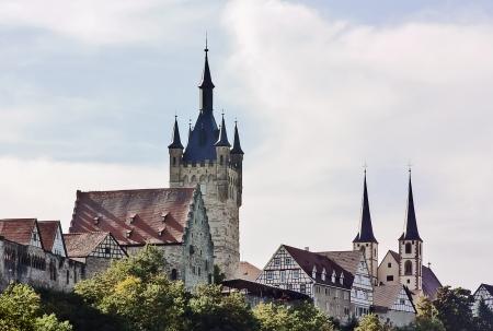 Bad Wimpfen ist ein historischer Kurort im Landkreis Heilbronn in Baden-Württemberg Region des südlichen Deutschland. Art auf eine Stadt aus dem Fluss Nekar