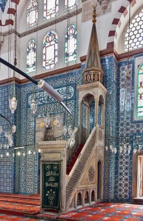 Die minbar.The Rustem Pasha Moschee ist berühmt für seine große Mengen exquisite dekoriert Fliesen.