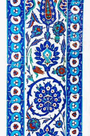 the Turkish ceramic tiles from Rustem Pasha Mosque, Istanbul