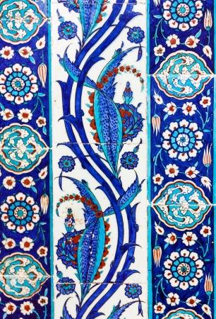 the Turkish ceramic tiles from Rustem Pasha Mosque, Istanbul