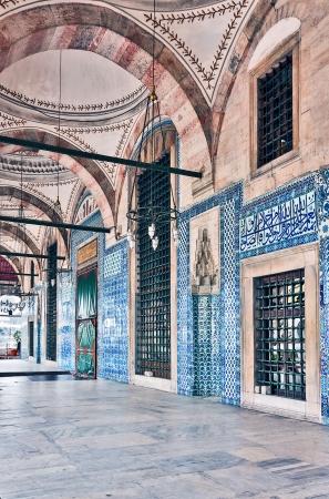 Die Rustem Pasha Moschee ist berühmt für seine große Mengen exquisite dekoriert Fliesen. Lizenzfreie Bilder