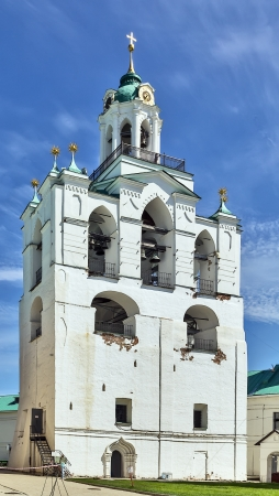 transfiguration: The belfry tower of the Transfiguration of the Savior Monastery in Yaroslavl, Russia