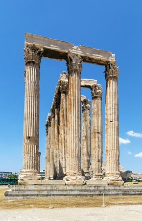The Temple of Olympian Zeus is a colossal ruined temple in the centre of the Greek capital Athens that was dedicated to Zeus photo