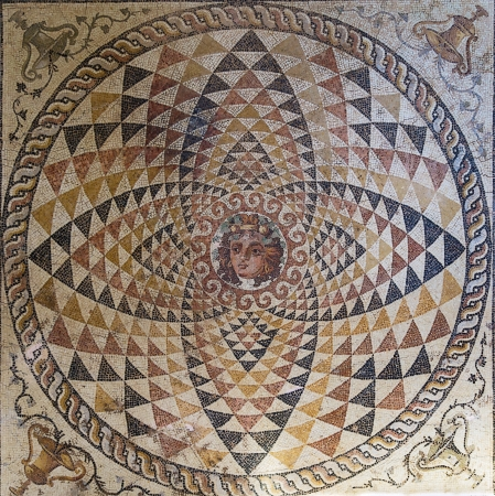 mosaic in the museum in ancient Corinth, Greece Editorial