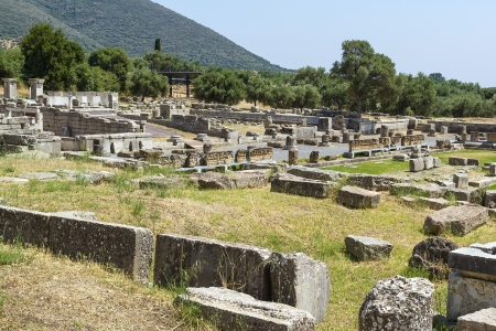 Agora ruins in Ancient Messene in Greece photo