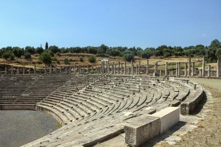 messinia: Stadium in Ancient Messene in Peloponnese, Greece Stock Photo