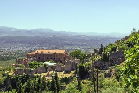Despot Palace bei Mystras Ausgrabungsstätte, Griechenland Lizenzfreie Bilder