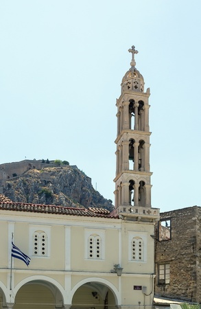 nafplio: The church of Agios Konstantinos in the Old Town of Nafplio is the Cathedral church of Nafplio, Greece
