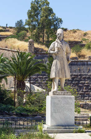 nafplio: monument of Staikos Staikopoulos in Nafplio, Greece