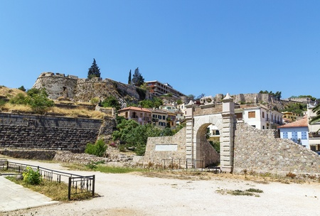 nafplio: The Land Gate of Naplion constructed by Venetians, Greece