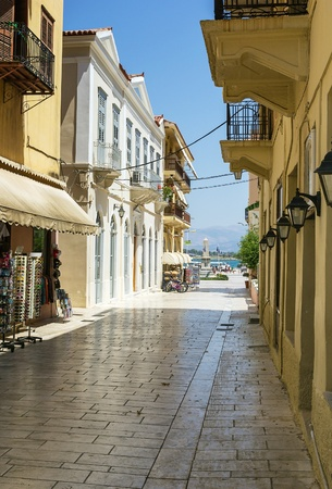 nafplio: streets in old part of the city of Nafplio