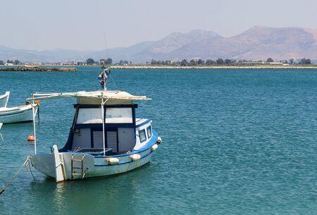 nafplio: the small boat in port of the city of Nafplio, Greece Stock Photo