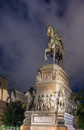 frederick street: Statue of Frederick the Great in Berlin in evening, Germany