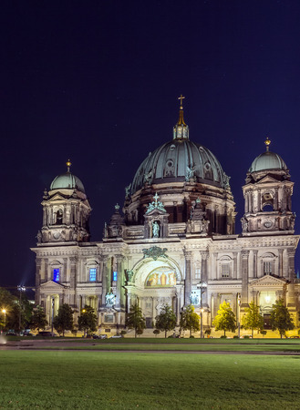 settles: Berlin Cathedral settles down in the downtown of Berlin, Germany