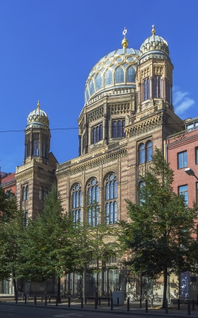 synagoge: New Synagogue was built 1866 as the main synagogue of the Berlin Jewish community