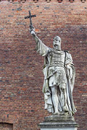 spandau: statue Albert the Bear in Spandau Citadel, Germany